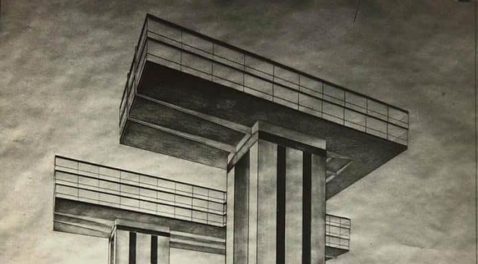 El Lissitzky. Cloud Iron, Ground Plan, View from Strastnoy Boulevard (1925)
