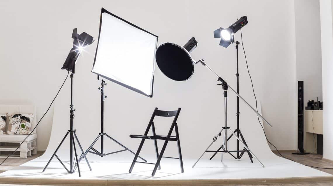 Photostudio tech light devices equipment illuminated indoors