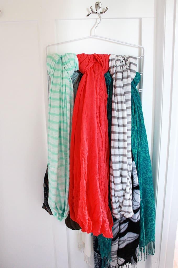 Scarves Hanging